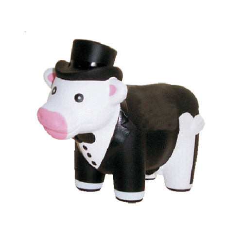 COW TOP HAT TUXEDO STRESS BALLS