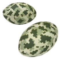 Our camo football stress balls do anything but blend into the background!