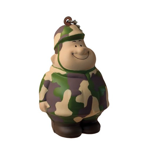 Army Bert Squeezies Keychain