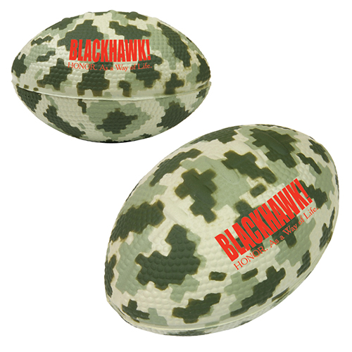 Camo/Digi Camo Football Stress Reliever - 3 1/2""